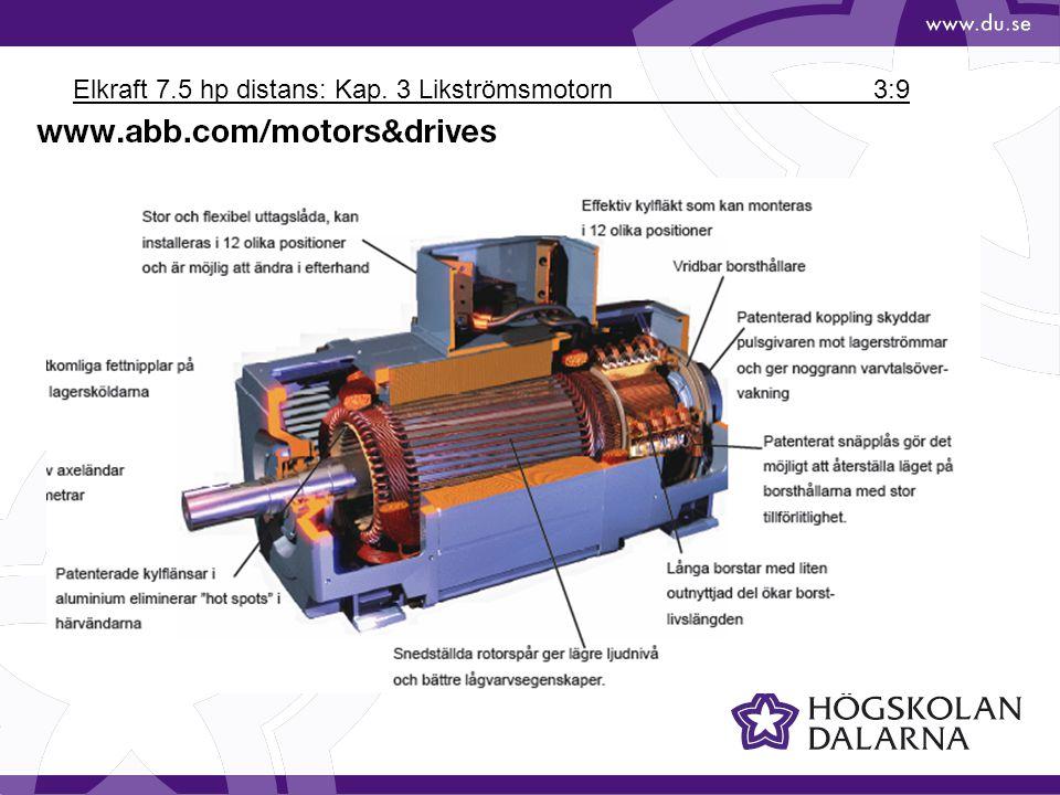 Elkraft 7.5 hp distans: Kap. 3 Likströmsmotorn 3:10