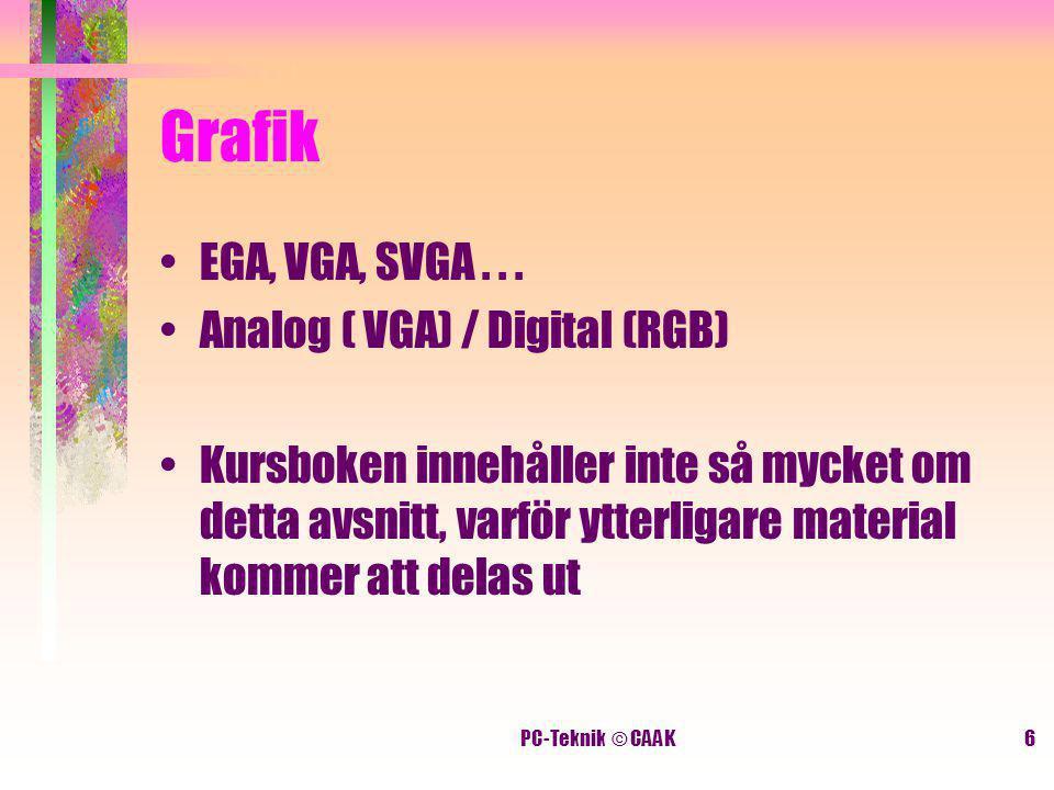 PC-Teknik © CAAK6 Grafik EGA, VGA, SVGA...