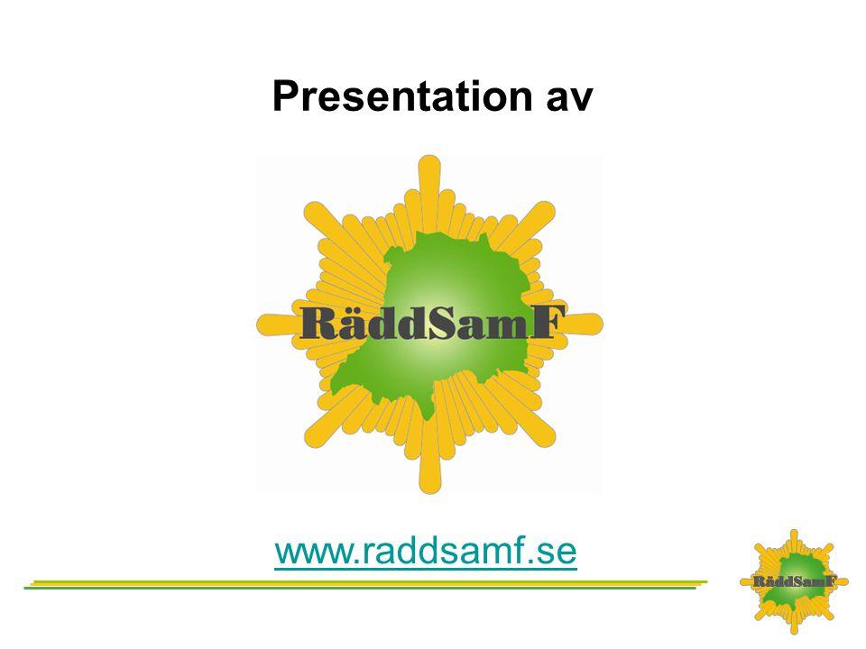 Presentation av www.raddsamf.se