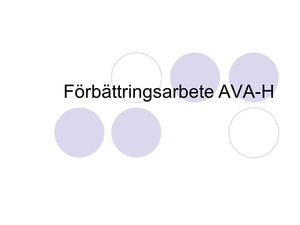 Förbättringsarbete AVA-H