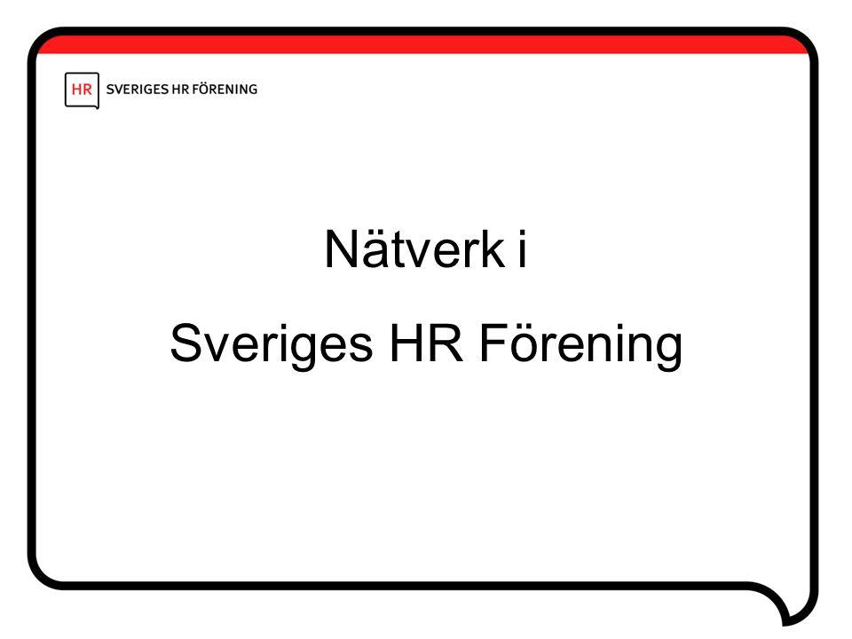 Nätverk i Sveriges HR Förening