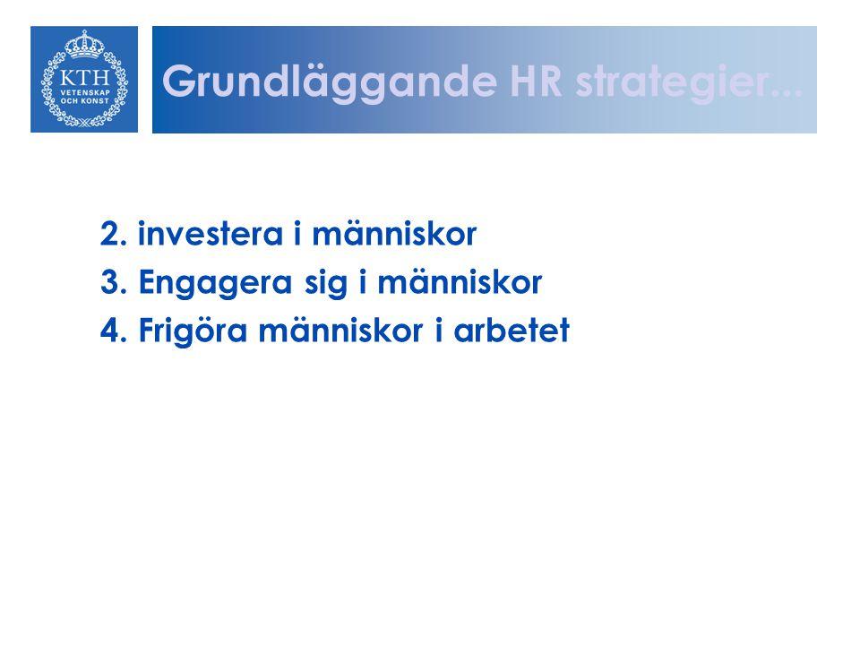 2. investera i människor 3. Engagera sig i människor 4. Frigöra människor i arbetet