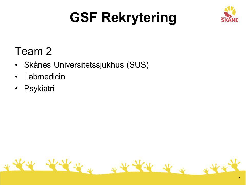 8 Team 3 Alla icke-vårdrelaterade tjänster till samtliga förvaltningar i Region Skåne - Administration - Ekonomi - IT - Vaktmästare - Chefer
