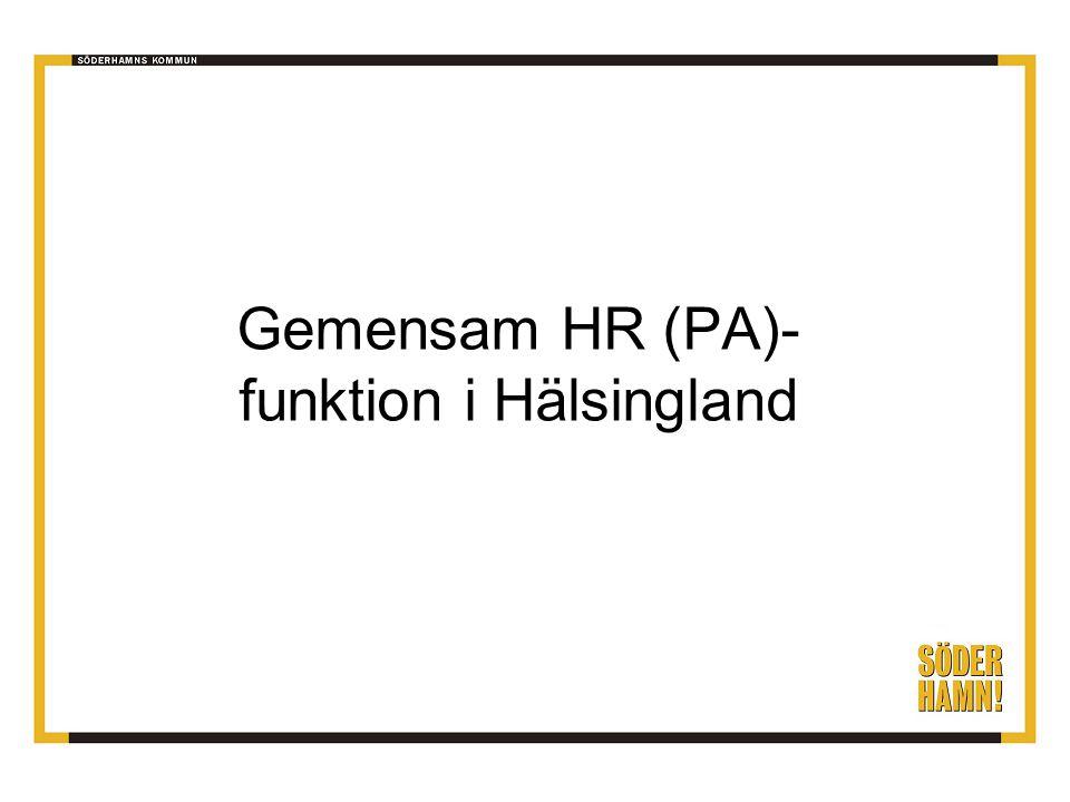 Gemensam HR (PA)- funktion i Hälsingland