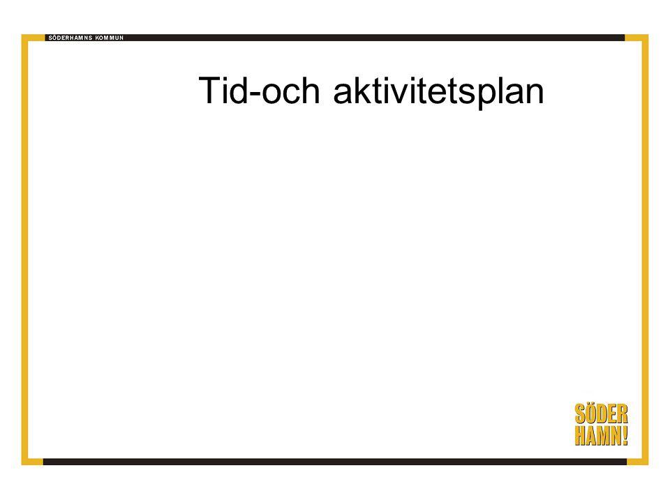 Tid-och aktivitetsplan