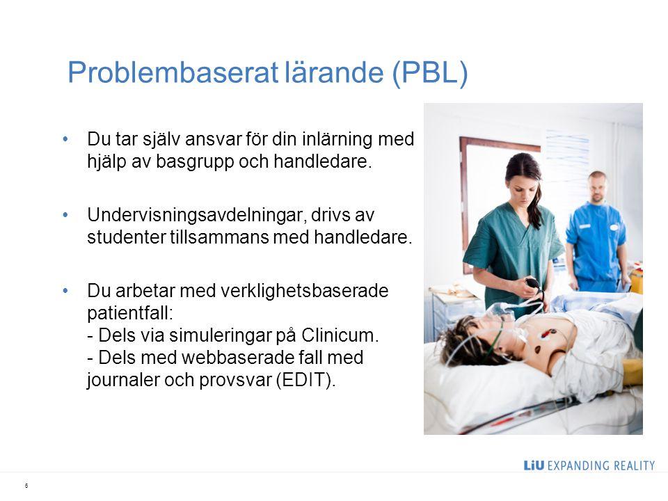 Problembaserat lärande (PBL) Du tar själv ansvar för din inlärning med hjälp av basgrupp och handledare. Undervisningsavdelningar, drivs av studenter