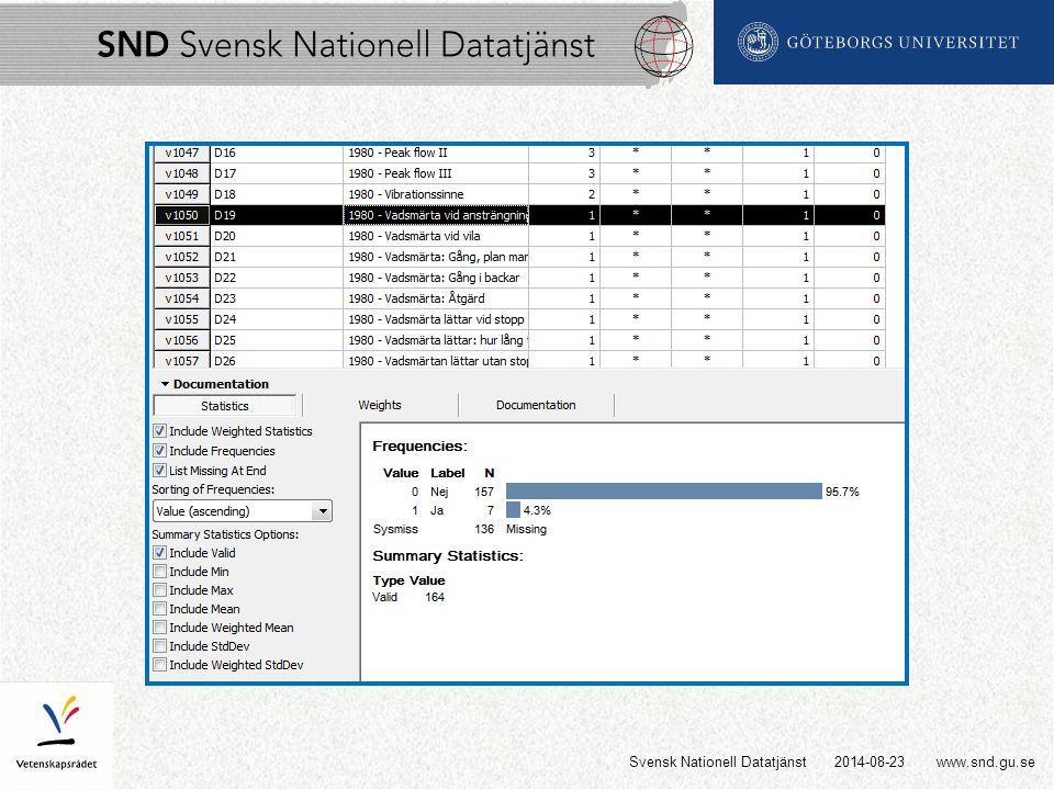 www.snd.gu.se2014-08-23Svensk Nationell Datatjänst