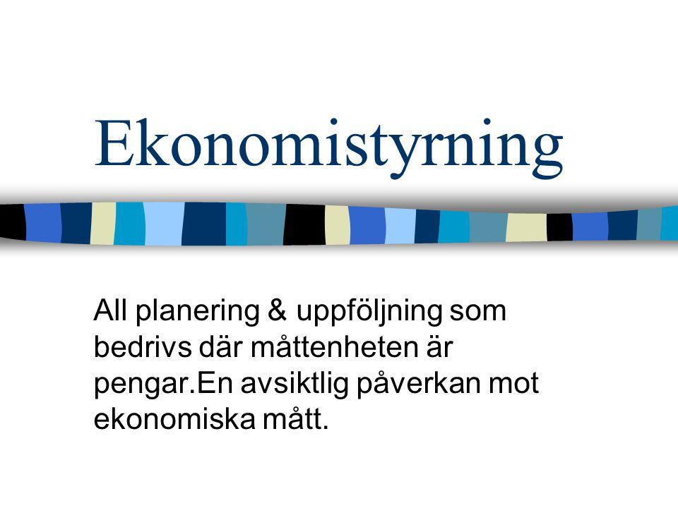 Adm & försäljningsomkostnader Kostnader rel.till ftg's ledning, adm och personalavdelning t.ex.
