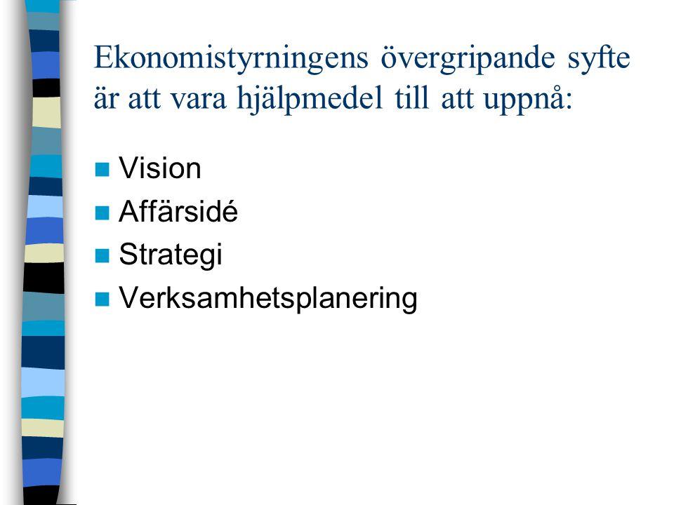Mindre formaliserade styrning Företagskultur.Ftgets.