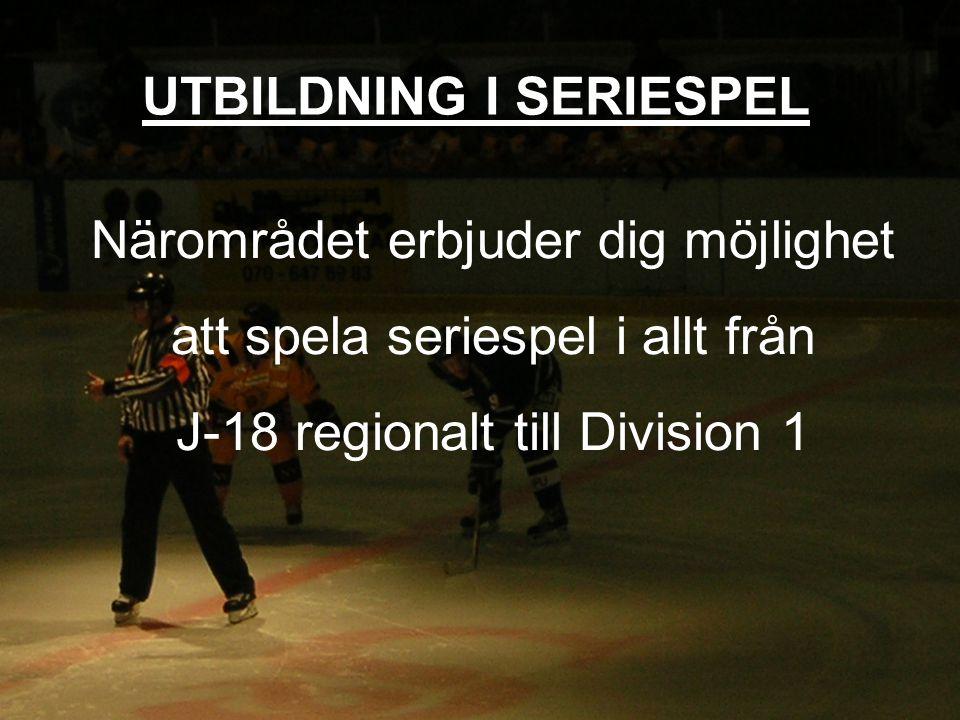 Närområdet erbjuder dig möjlighet att spela seriespel i allt från J-18 regionalt till Division 1 UTBILDNING I SERIESPEL