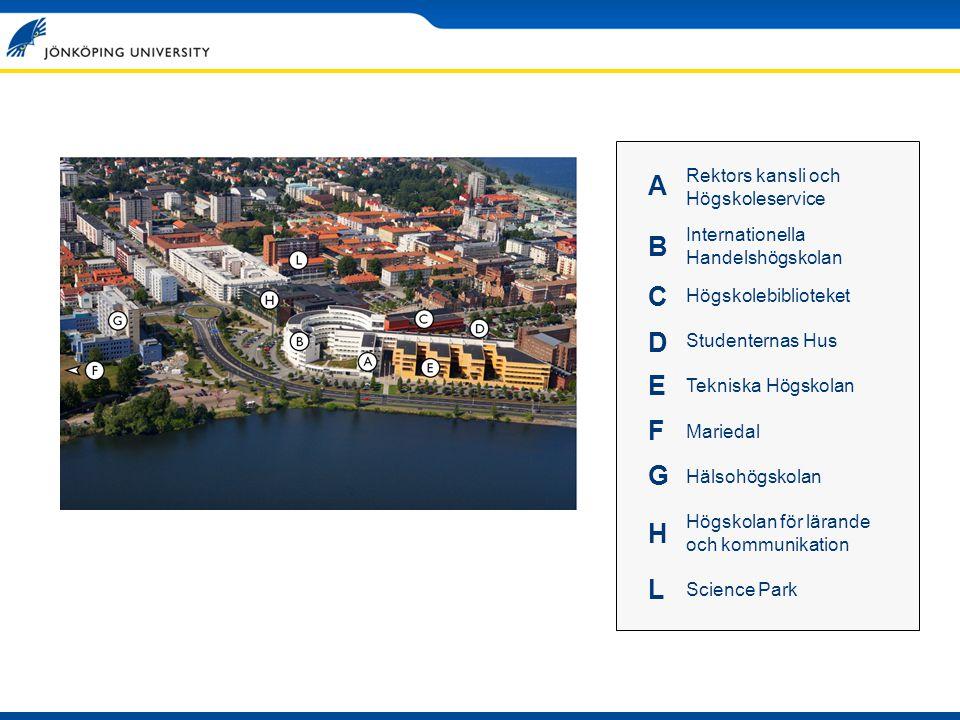 HISTORIK Landstinget i Jönköpings län 1897 Sjuksköterskeutbildningen startar (två studenter!) 1977 Högskolan i Jönköping inrättas som statlig högskola 1990 Regionen och landshövdingen förespråkar en internationell handelshögskola i Jönköping 1993 Regeringen föreslår två stiftelsehögskolor i landet.