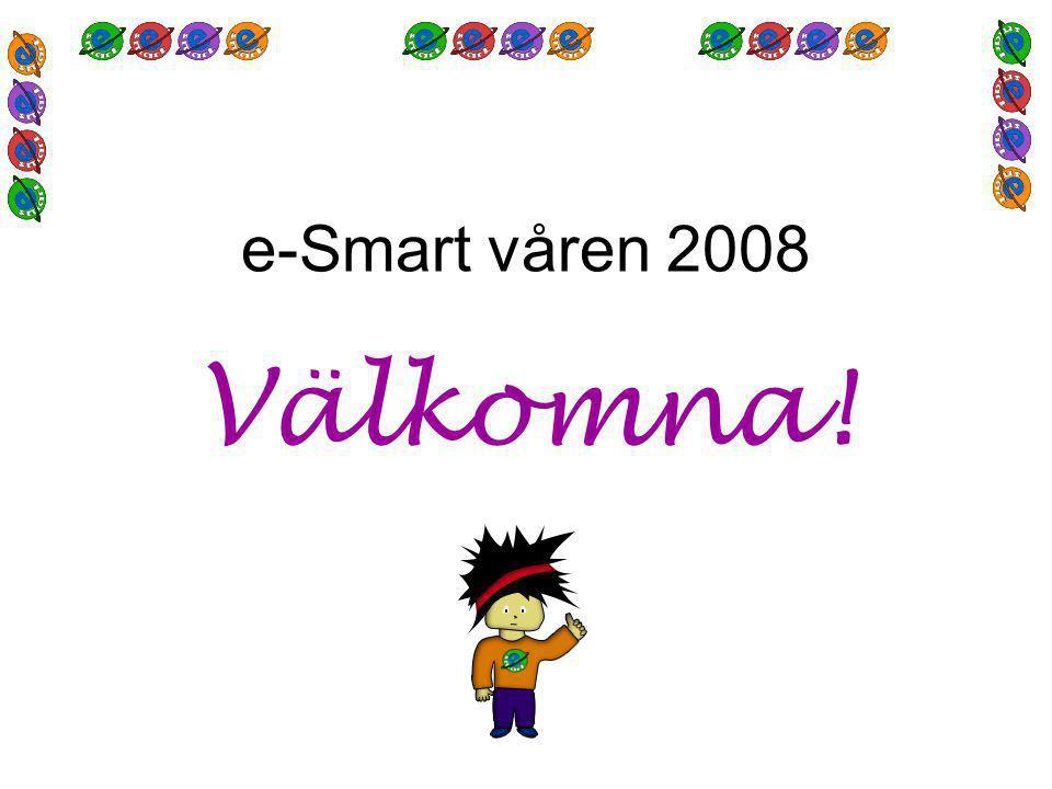e-Smart våren 2008 Välkomna!