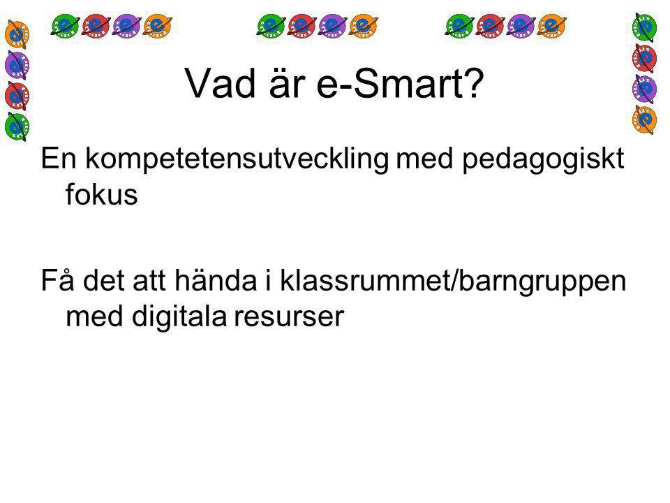 Uppgift till seminarium 2 Arbeta fram idéer till hur ni kan använda digitala resurser med era barn/elever.