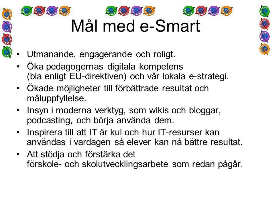 Mål med e-Smart Utmanande, engagerande och roligt.