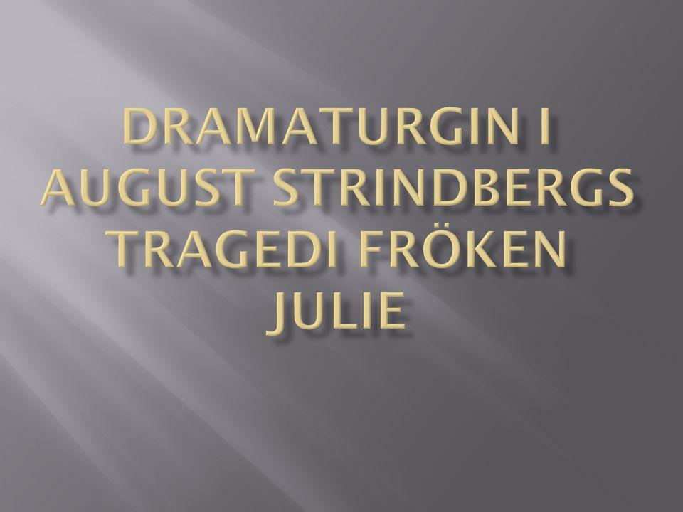 Tragedin Fröken Julie handlar om grevens dotter Julie och betjänten Jean.