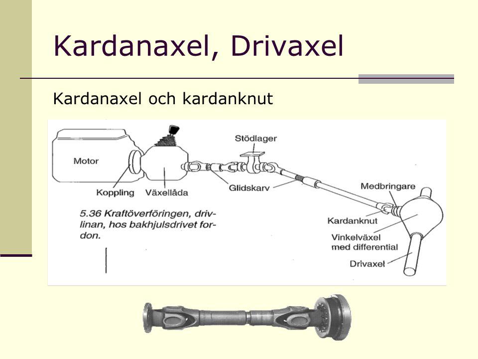 Kardanaxel, Drivaxel Kardanaxel och kardanknut