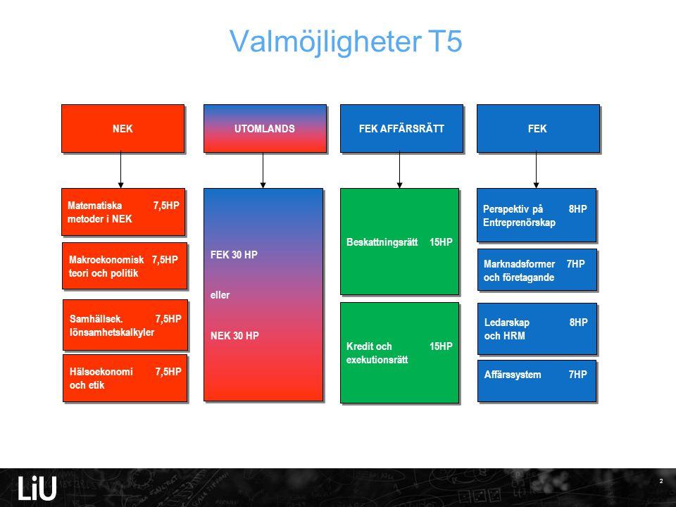 3 Valmöjligheter T6 Marketing & Consumer Behaviour 7,5 HP Service Management & marketing 7,5 HP Marketing & Consumer Behaviour 7,5 HP Service Management & marketing 7,5 HP Koncernred.7,5HP Redovisnings- teori 7,5 HP Koncernred.7,5HP Redovisnings- teori 7,5 HP Ekonometri 7,5HP Marknadsstruktur & företagsstrat.