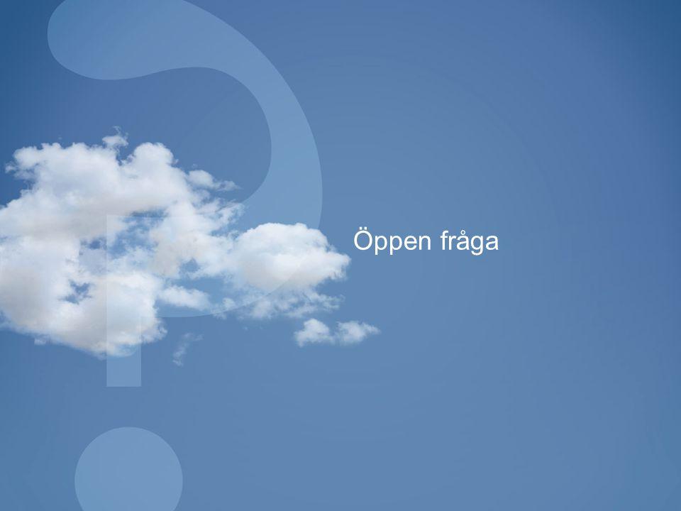 Öppen fråga