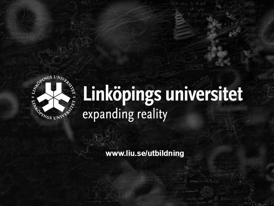 17 www.liu.se/utbildning