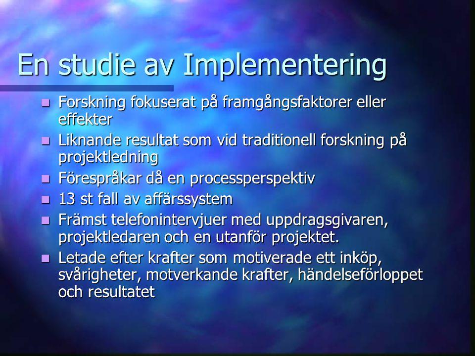 Utnyttjande av möjlighetsfönster Inkrementell förändring av utnyttjande av datasystem.