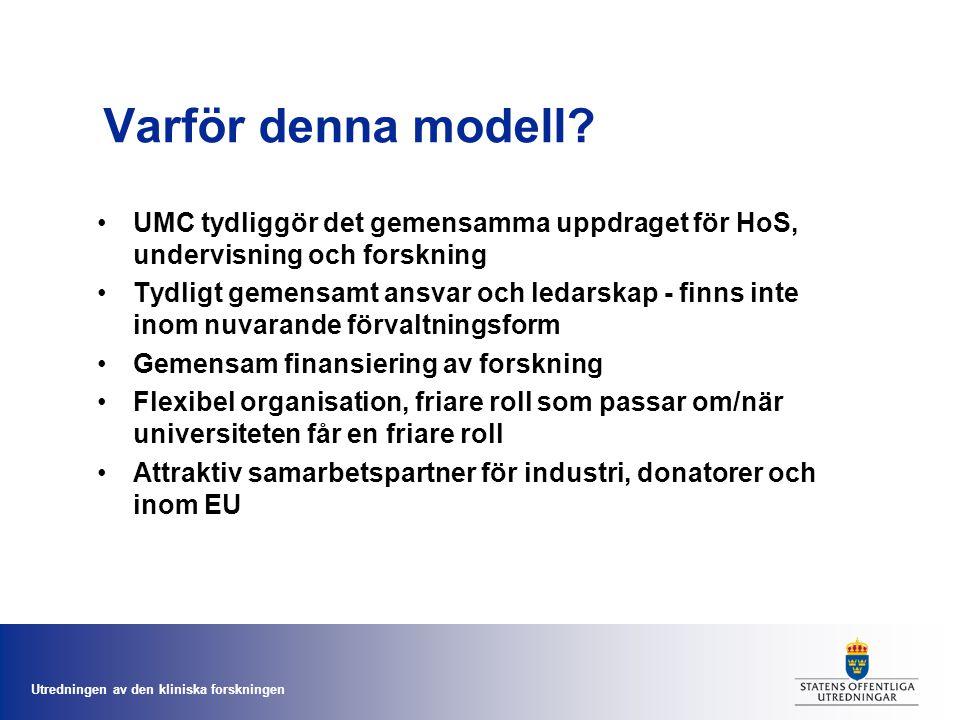 Utredningen av den kliniska forskningen Varför denna modell.