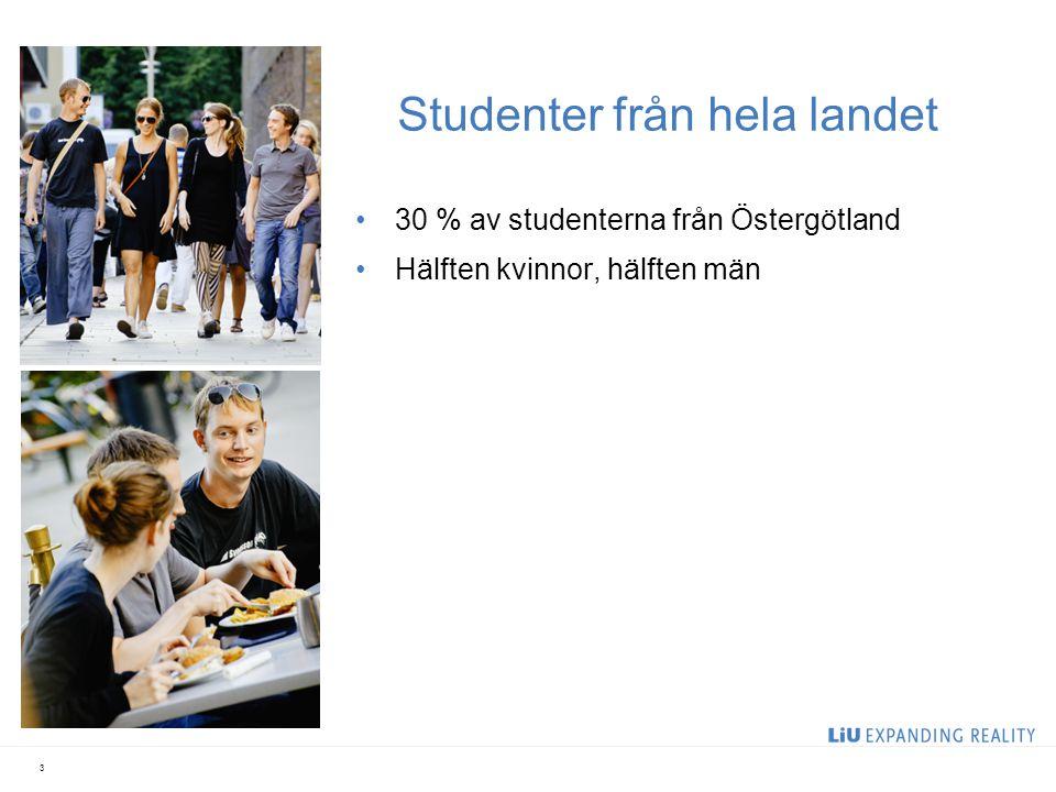 Ett internationellt universitet 2000 internationella studenter Över 500 LiU-studenter reser varje år ut i världen inom olika utbytesprogram Avtal med 500 utbytesuniversitet i fler än 50 länder 4