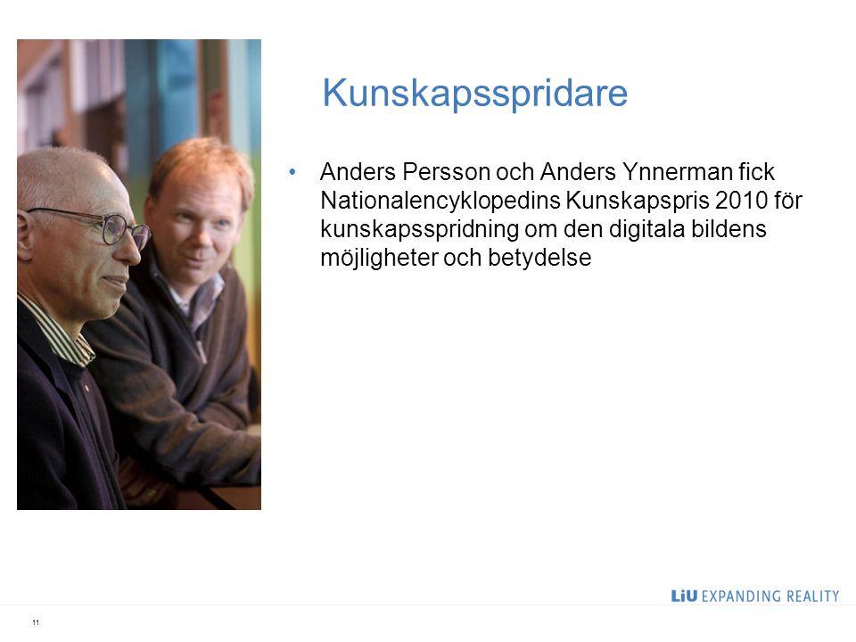 Kunskapsspridare Anders Persson och Anders Ynnerman fick Nationalencyklopedins Kunskapspris 2010 för kunskapsspridning om den digitala bildens möjligh