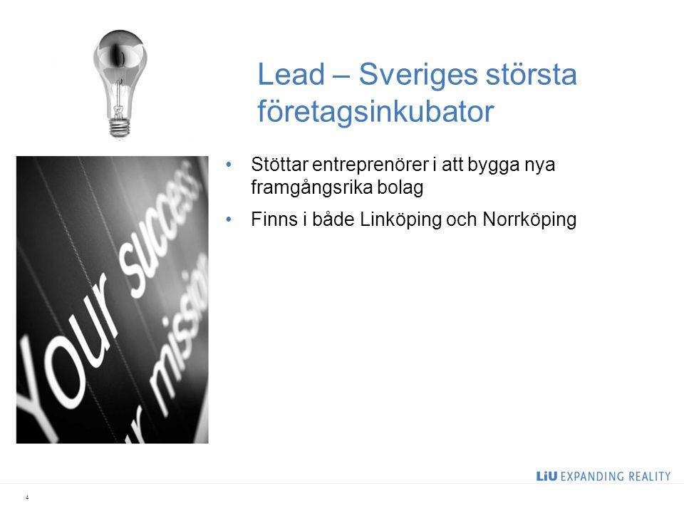 Teknikparker där företag växer 5 Norrköping Science Park 110 företag, 800 anställda Mjärdevi Science Park 260 företag, 6 000 anställda