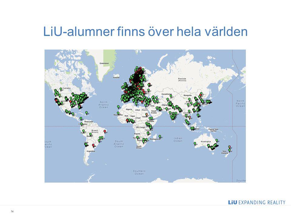 LiU-alumner finns över hela världen 14