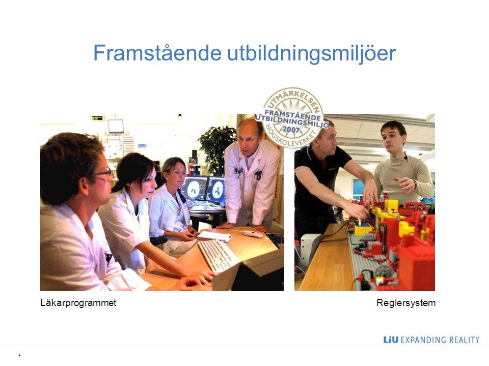 Framstående utbildningsmiljöer 4 LäkarprogrammetReglersystem
