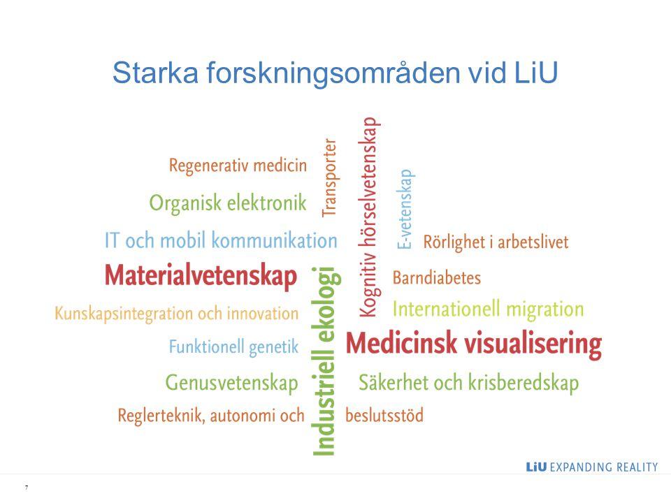 Starka forskningsområden vid LiU 7
