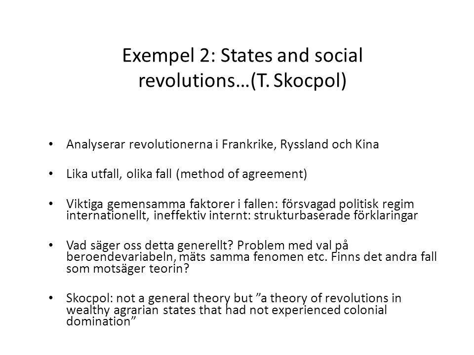 Exempel 2: States and social revolutions…(T.