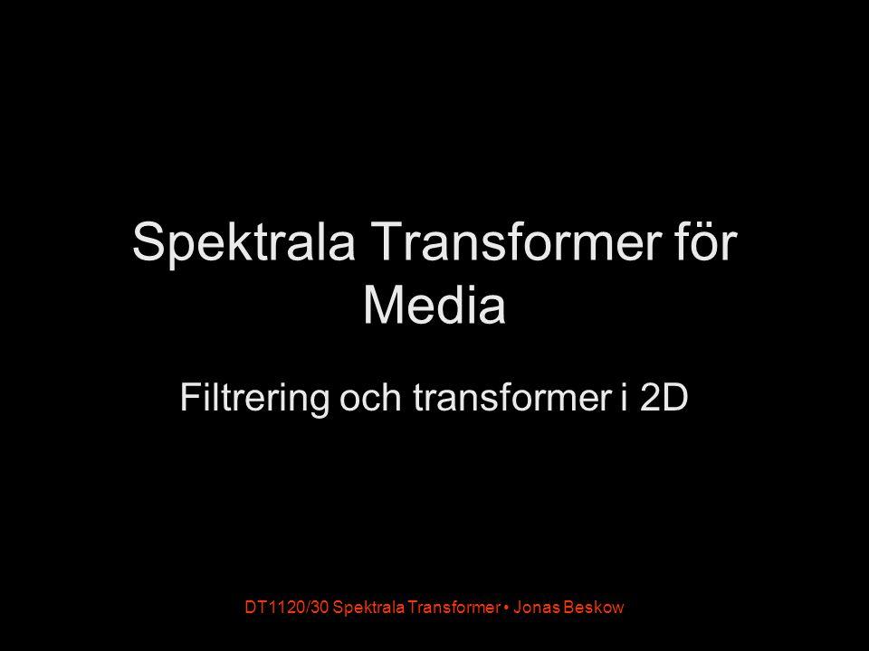 DT1120/30 Spektrala Transformer Jonas Beskow Spektrala Transformer för Media Filtrering och transformer i 2D