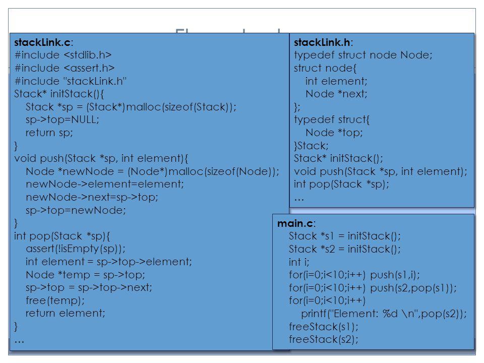 Flera stackar stackLink.c : #include #include #include