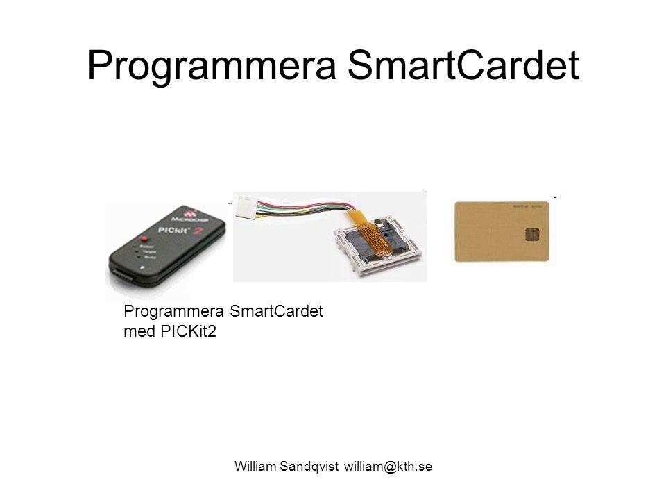 William Sandqvist william@kth.se Bankernas Chip and PIN -teknologi Vid ansikte mot ansikte – transaktioner:  Chip – anger vilket/vems kort det är som används ( för att undvika förfalskade kort )  PIN – anger att det är kortägaren som använder kortet ( för att förhindra användning av stulna kort ) Wikipedia SmartCard