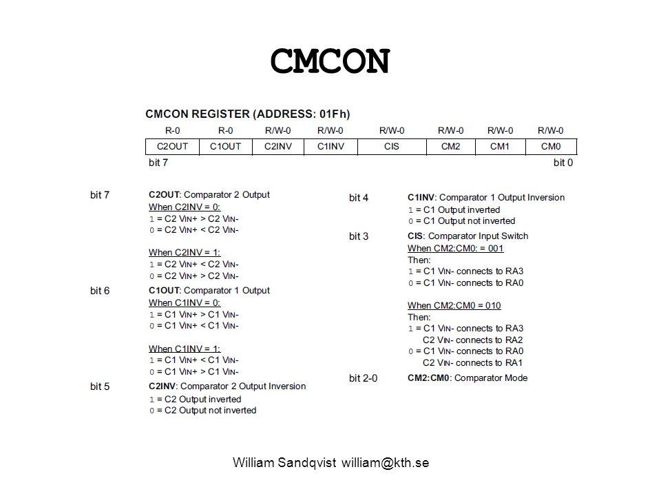 William Sandqvist william@kth.se Comparator modes. 000,100,111,010