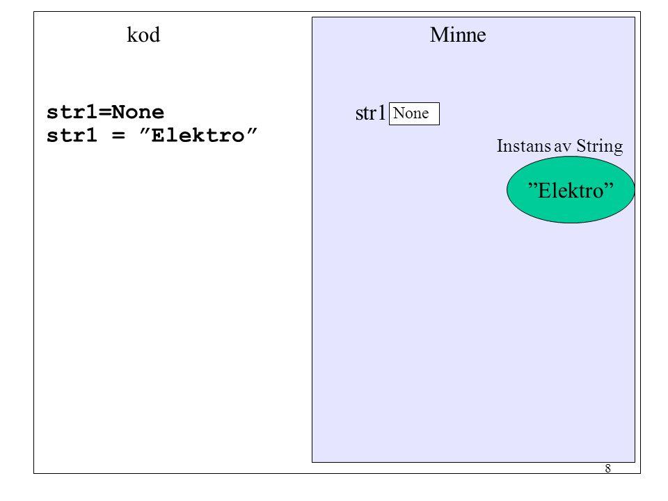 7 Referenser Alla variabler som används för att komma åt ett objekt är referenser. En referensvariabel innehåller inga värde däremot adressen till någ