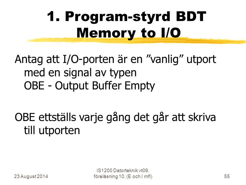 23 August 2014 IS1200 Datorteknik vt09, föreläsning 10, (E och I mfl)55 1.