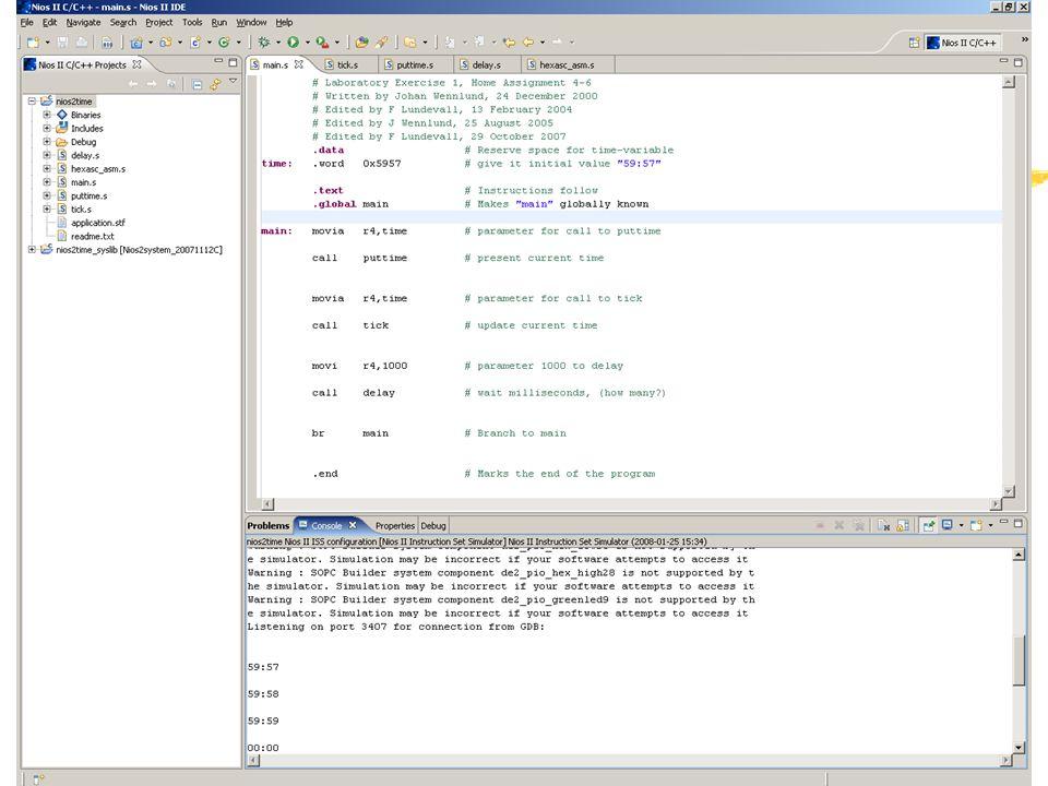 February 8, 2008 IS1200/2G1518 Datorteknik, föreläsning 4 vt2008 (E)69