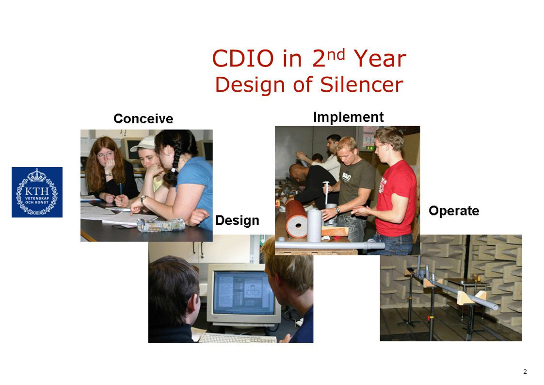 2 CDIO in 2 nd Year Design of Silencer Implement