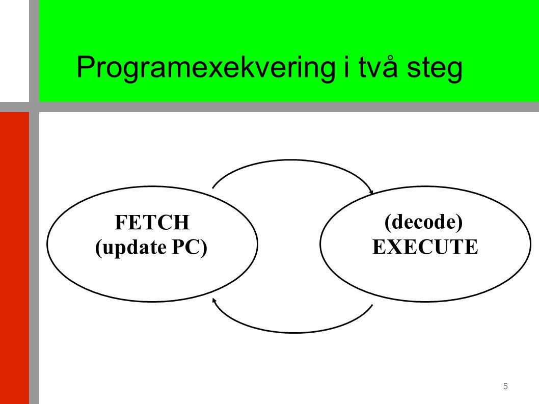 31 januari 20072G1518, föreäsning 5, vht2006 (D2)66 getchar från Serieport syntetisk Nios-2-kod (blocking) #int returvärde = in_char(void).equdatain, 0x860# 0x880.equdataut, 0x864# 0x884.equstatus, 0x868# 0x888.equibfmask, 0x80# 0x80 = 0b10000000 in_char: MOVIAr8, datain LDWr9, 8(r8)# status=datain+8 ANDIr9, r9, ibfmask BEQ r9, r0, in_char LDWr2, 0(r8) RET