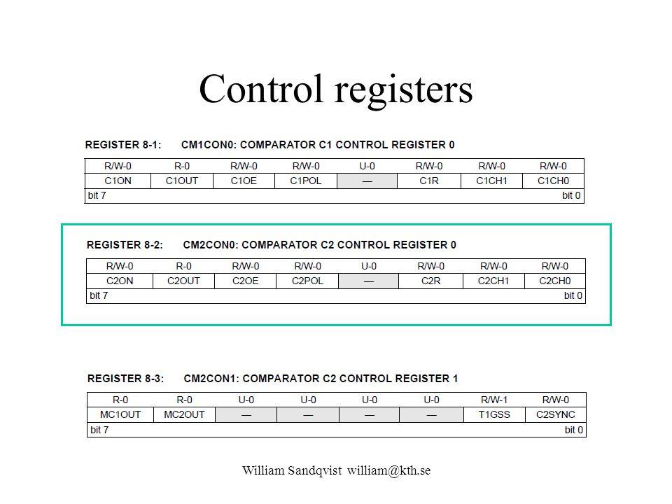 CMP2 vid lab William Sandqvist william@kth.se 1 C2CH.0=0; C2CH.1=1; C2R=0; C2POL=0; C2OE=1; C2ON=1; -10-110