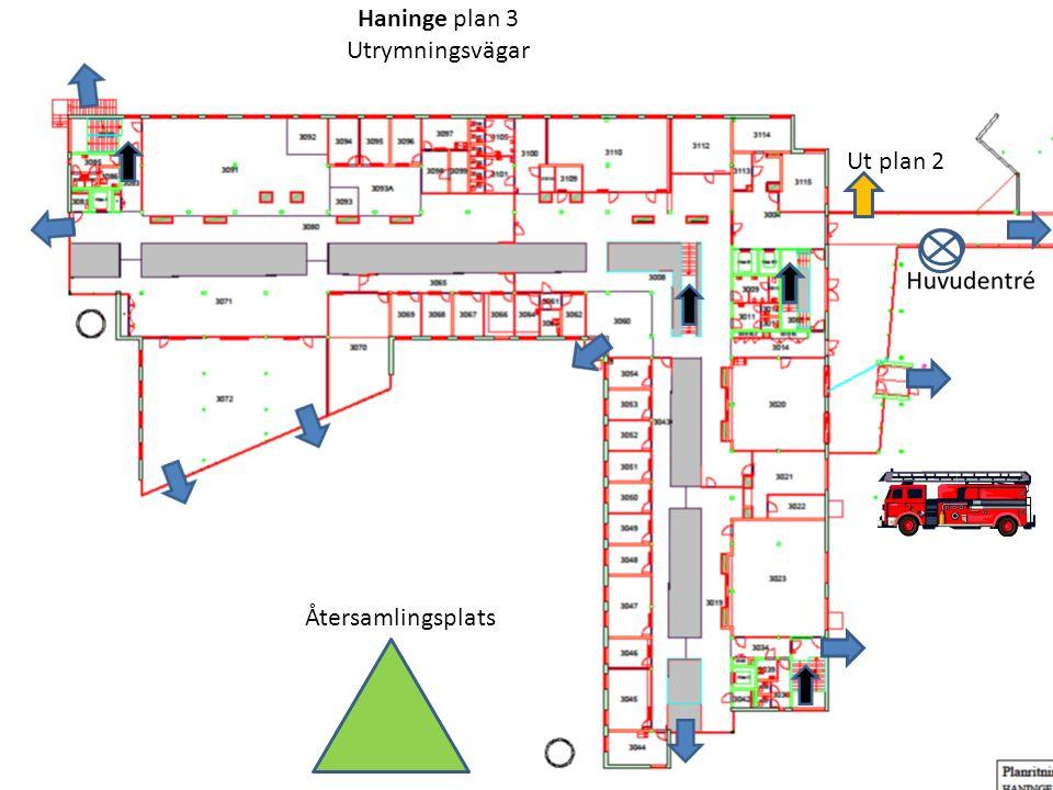 Haninge plan 3 Utrymningsvägar Ut plan 2 Återsamlingsplats T.Ryman 2014.01.21