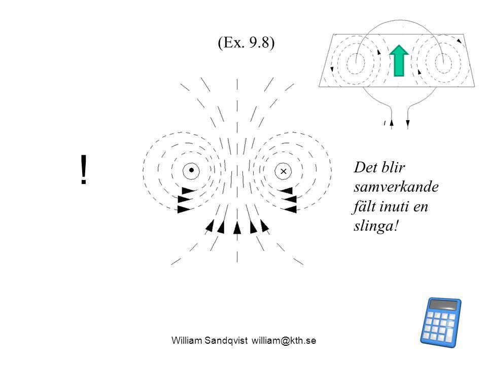   ! Det blir samverkande fält inuti en slinga! (Ex. 9.8)
