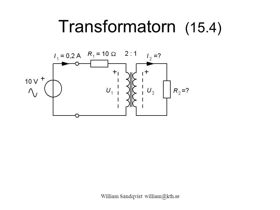 William Sandqvist william@kth.se Transformatorn (15.4)