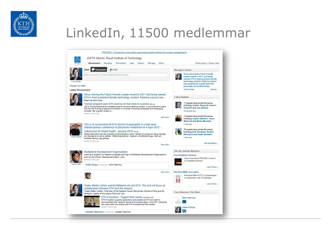 LinkedIn, 11500 medlemmar