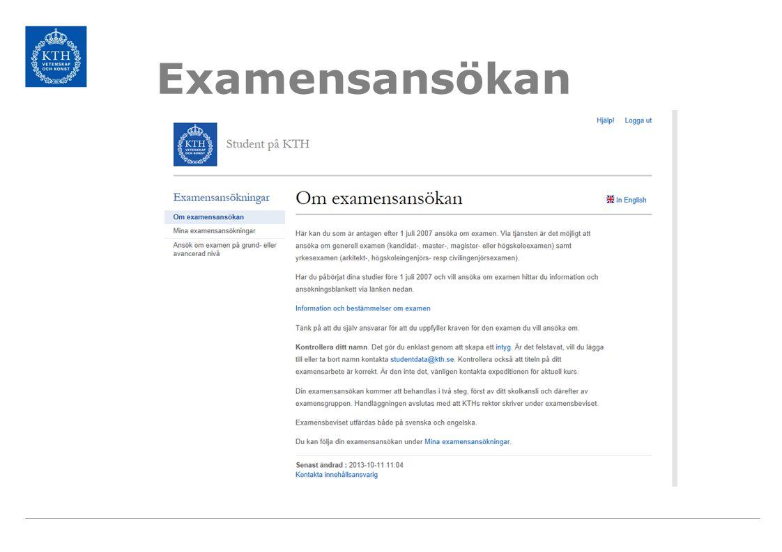Examensansökan