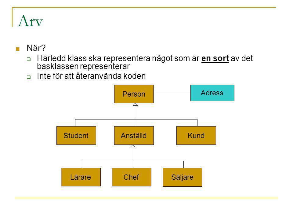 Arv När.