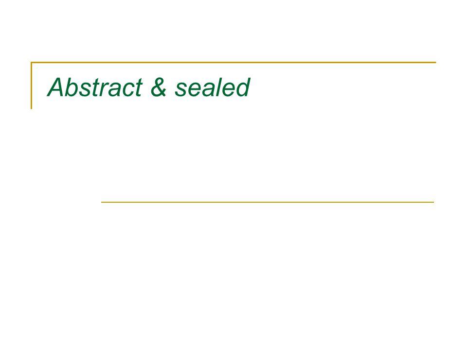 Abstrakta klasser Vad är en abstrakt klass.