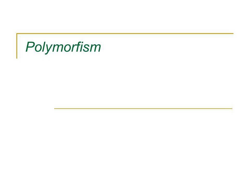 Definition Polymorfism är en teknik för att dynamiskt kunna välja vilken metod som ska exekveras under programkörning istället för under kompilering.